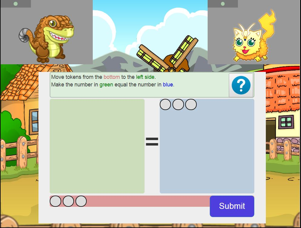 MathMonsters, a Pokemon-esque game developed to teach Kindergartners basic math skills.