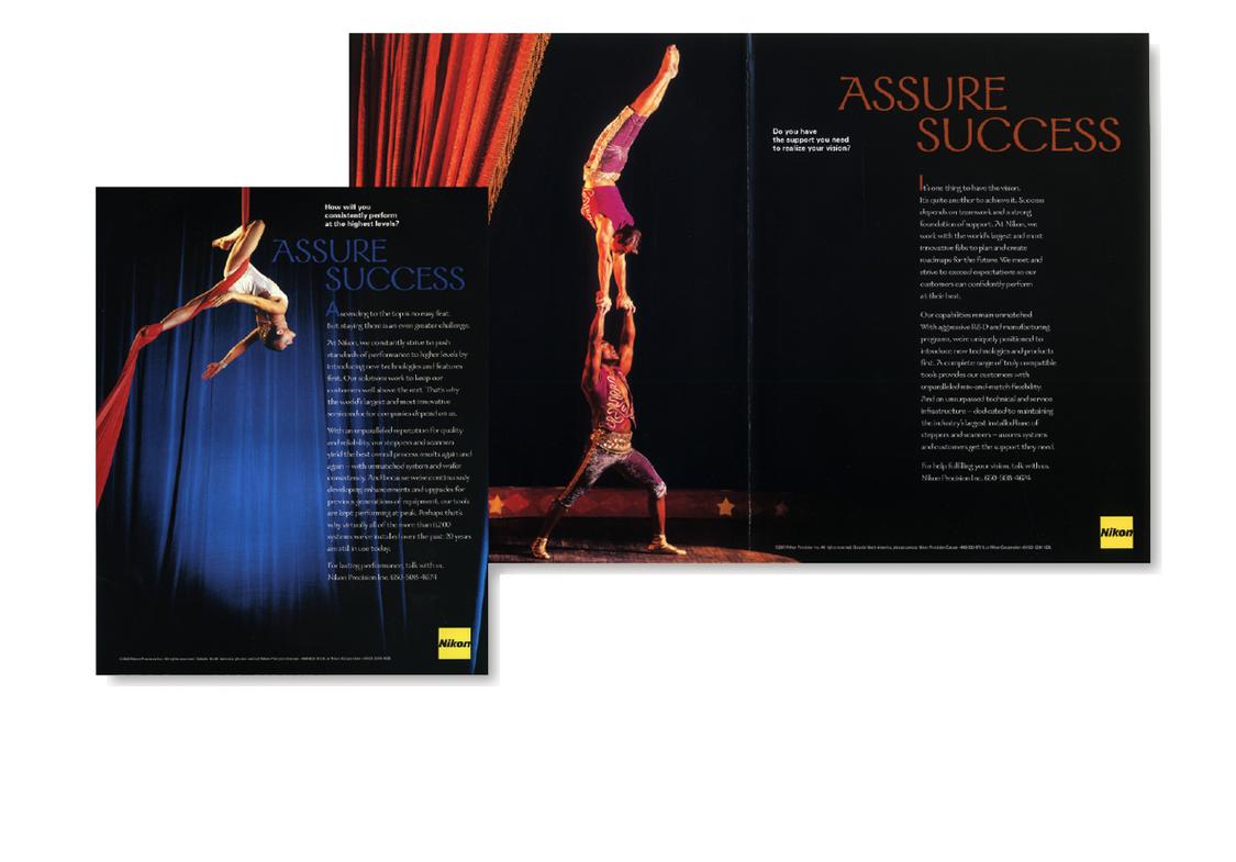 Nikon Precision  Performance Campaign magazine ads, original photography