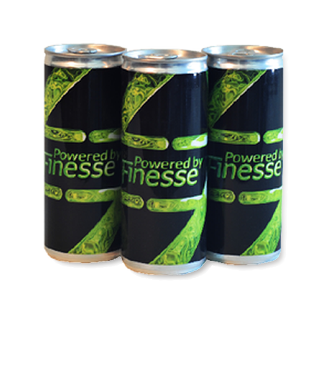 Finesse Solutions  Powered by Finesse energy drink. Trade show premium