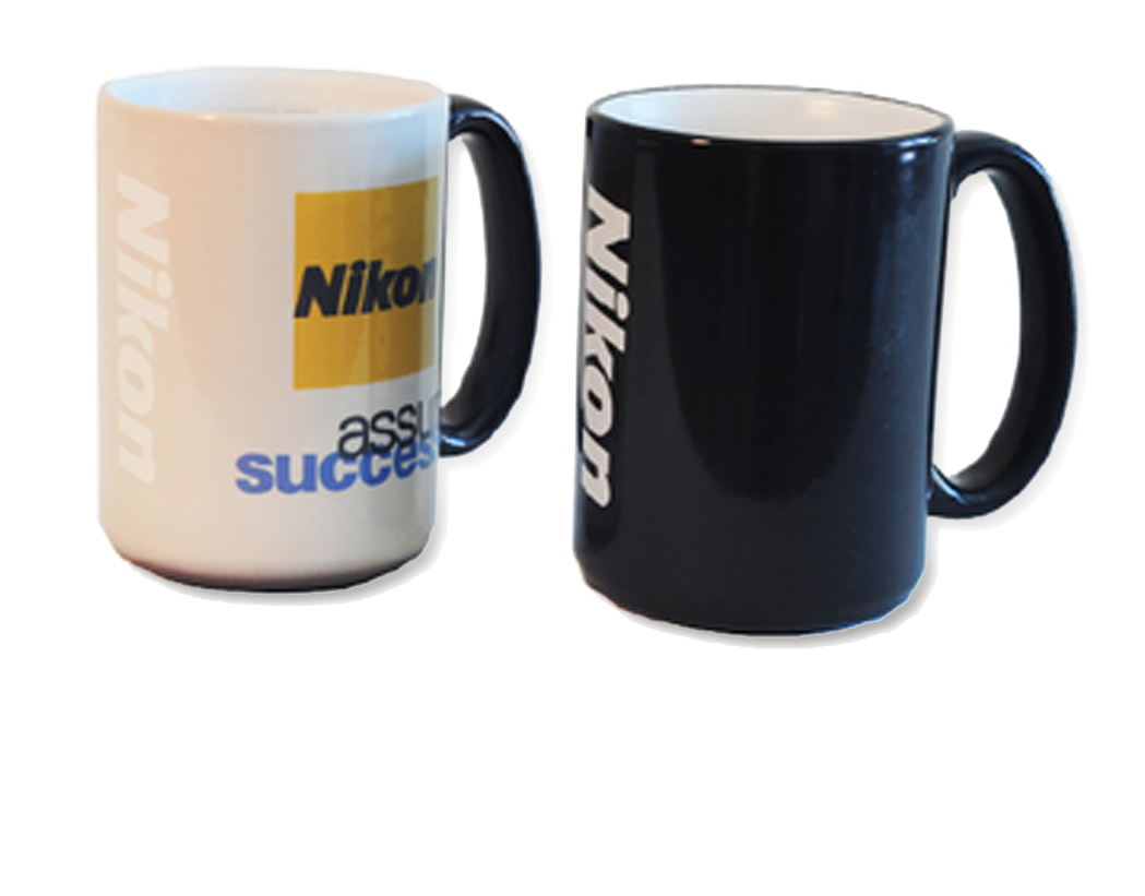 Nikon Precision  Thermochromatic mugs