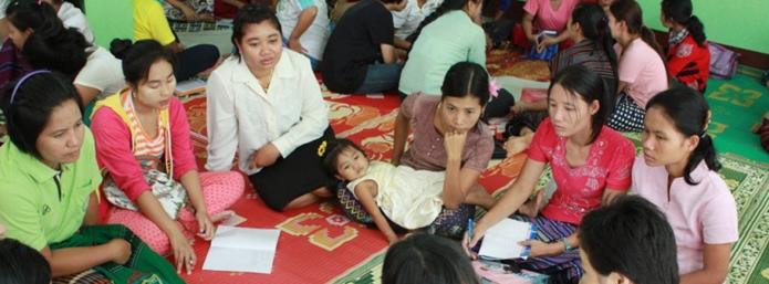 2015 年 6 月泰緬邊境移工幼教師資培訓工作坊。