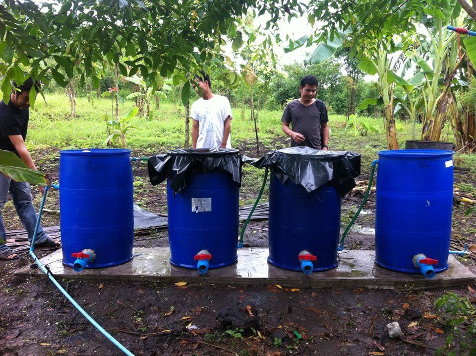 Auh-Mei Au-Tee 生態農場濾水系統,完工!