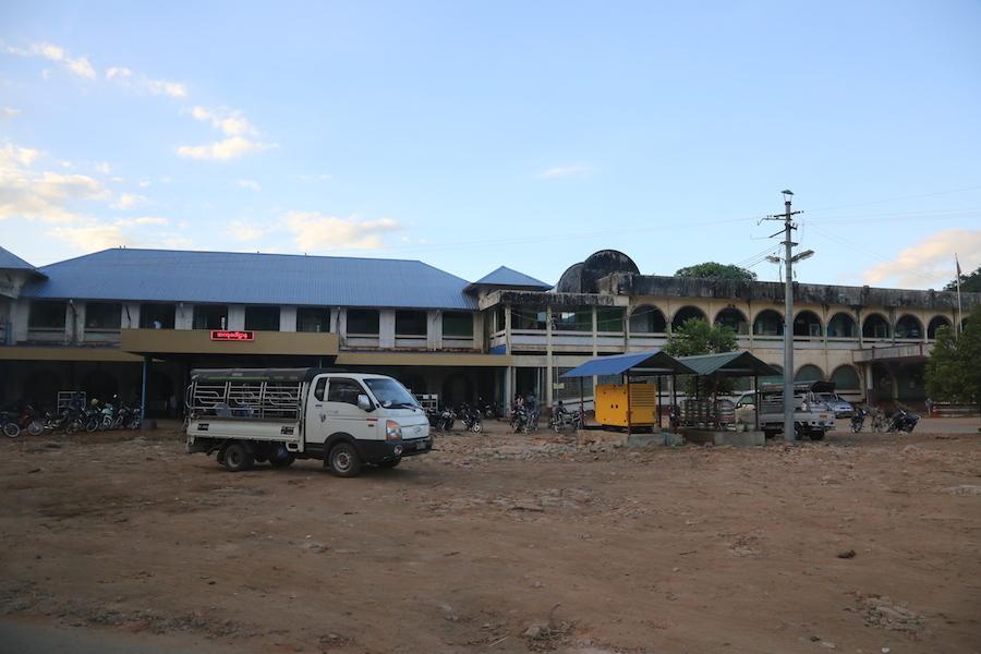 緬甸勃固總醫院外觀。(攝影╱陳阿凱)