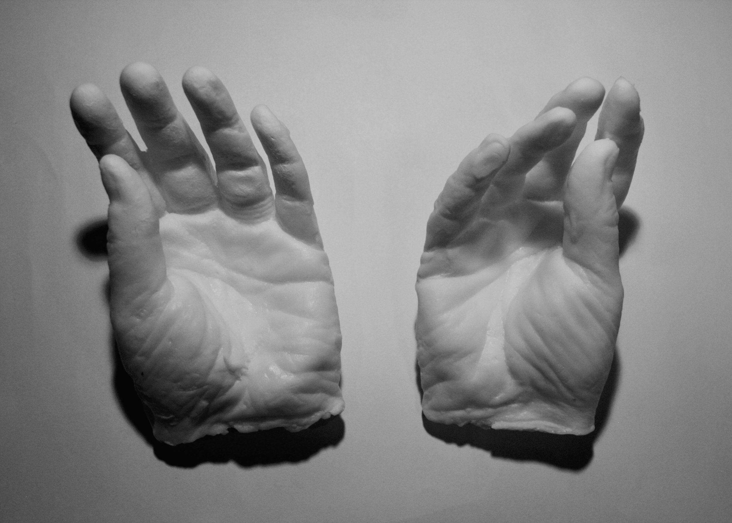 My Mother's Hands , inkjet print, documentation of a soap sculpture, 2017. Image provided by Holmes.