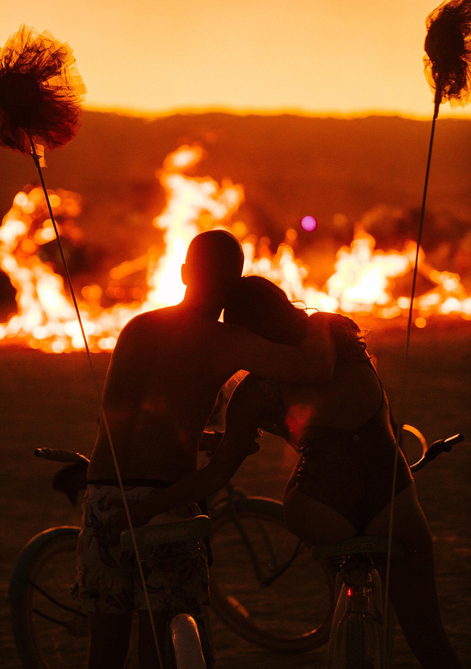 burning man people on the playa