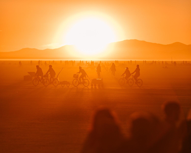 Burning man sunrise photos