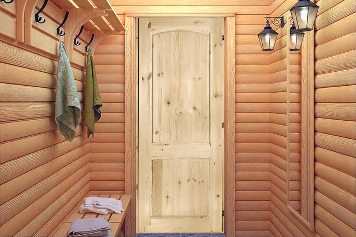 Дверь с притвором. Сосна, массив    Коробка сосна. Петли 3шт    Размеры дверного блока 700-1800, 700-1900,    700-2000, 800-1900, 800-2000    Цена 6900руб