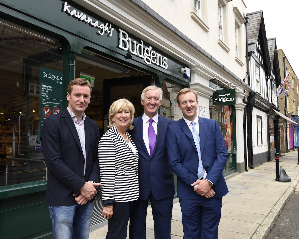 Kavanagh family on opening day of Budgens Eton
