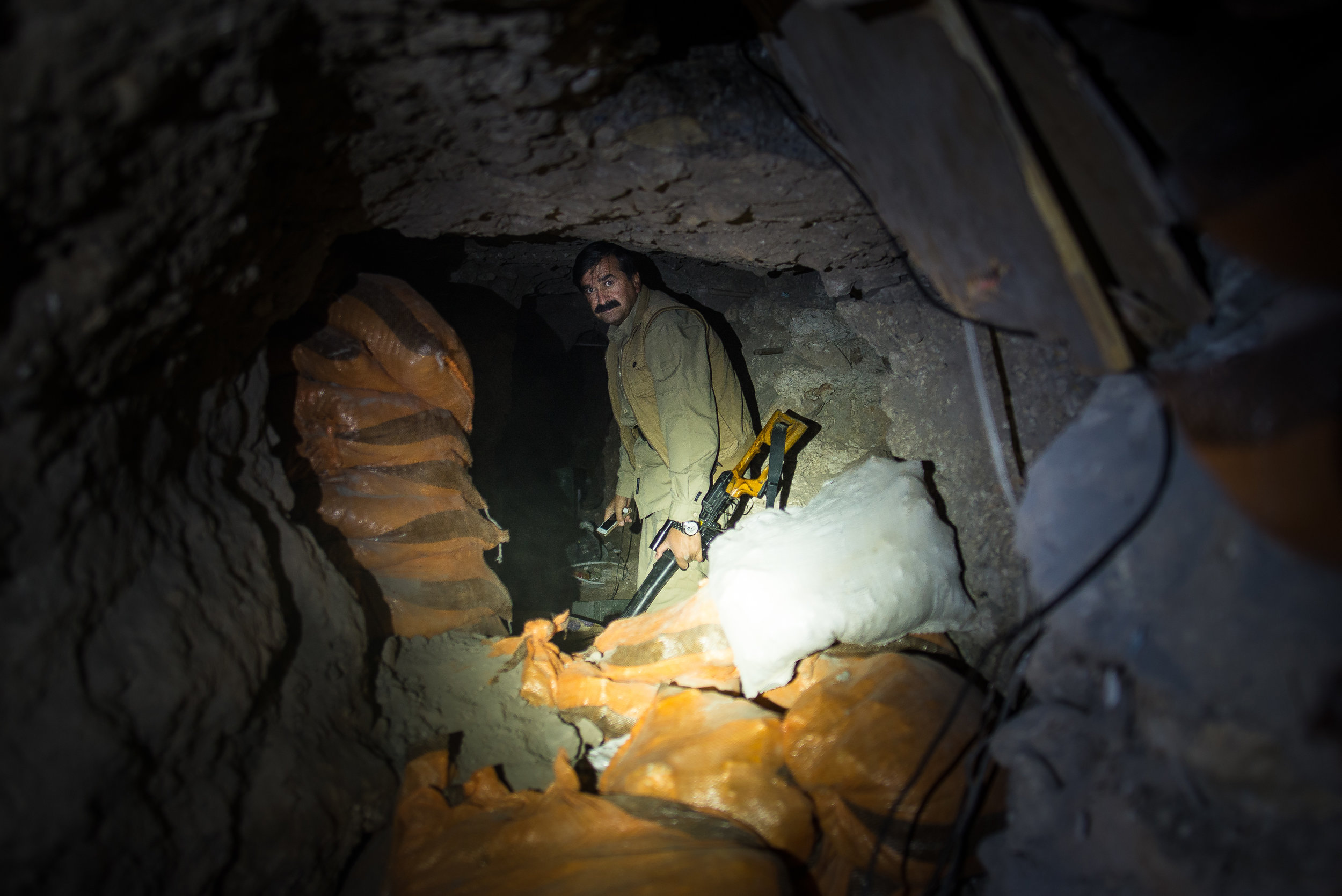 Inside a ISIS tunnel