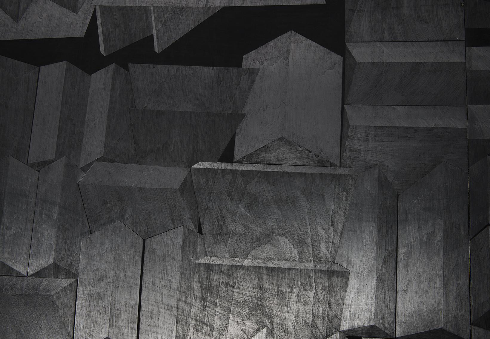 Hado, פחם וגרפיט על עץ, פרט מתוך מיצב, 2014 (2).jpg