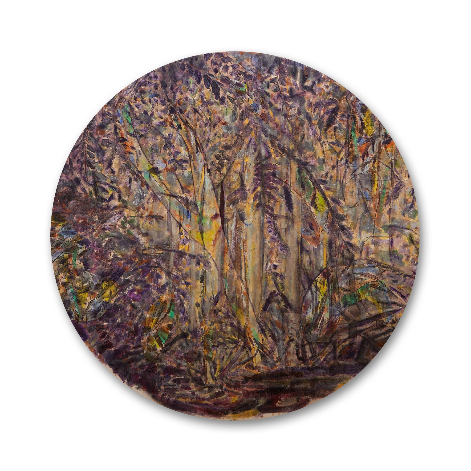 """גידי סמילנסקי, """"סבך"""", קוטר 180 ס""""מ, שמן על בד, 2014"""