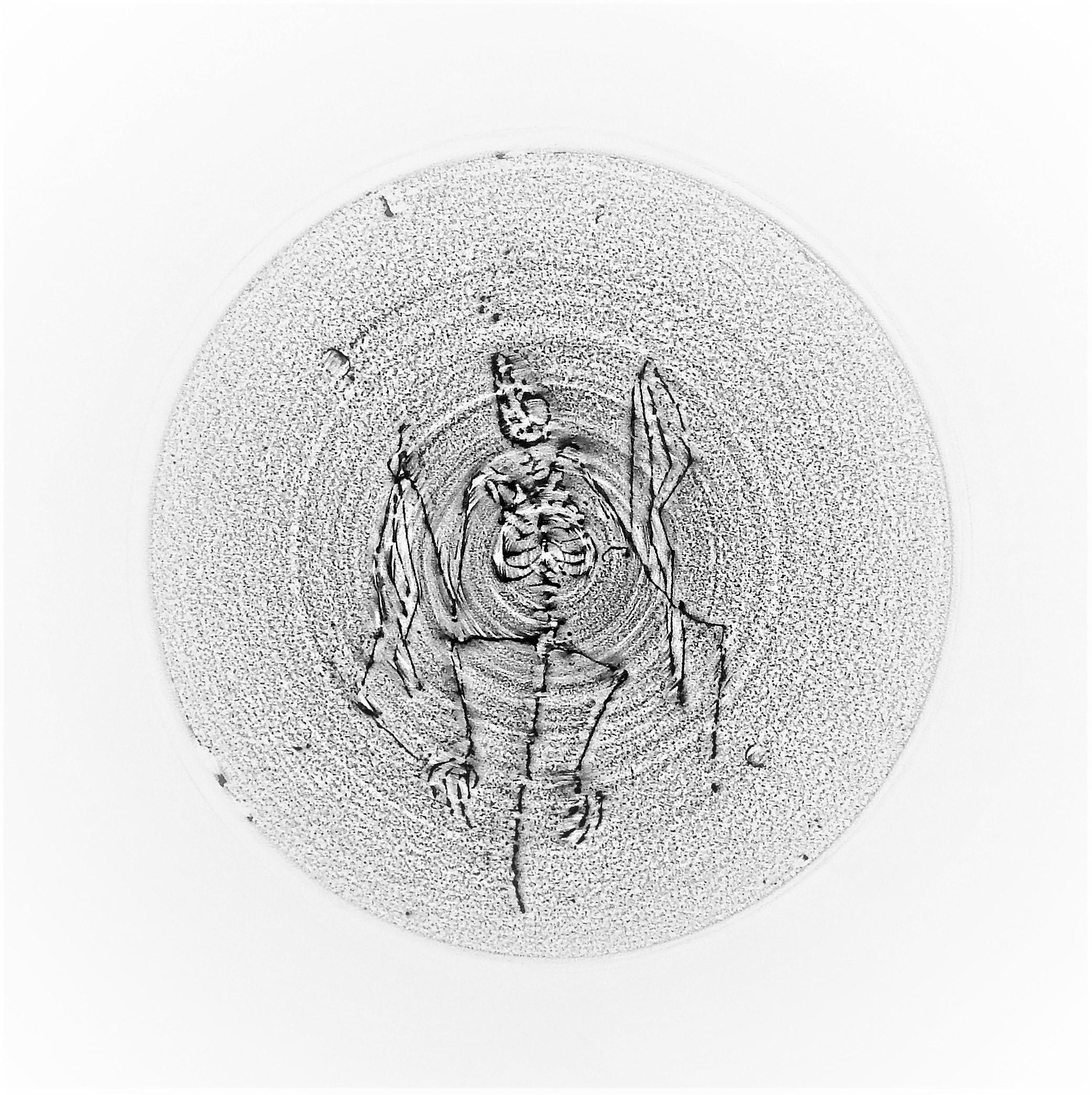 """ענבר פרים, ללא כותרת, עפרון על נייר, 60X  60 ס""""מ , 2018"""