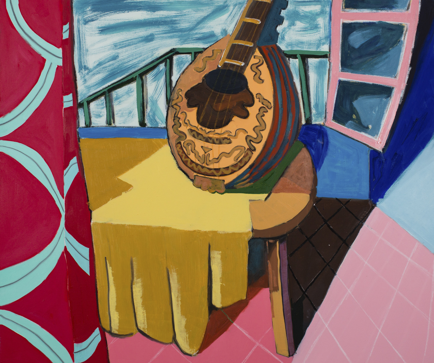 Guy Levy, Mandolin, oil on canvas, 2018 (photo by the artist)