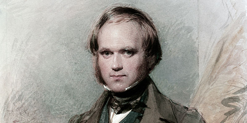Charles Darwin painted by g. richomnd