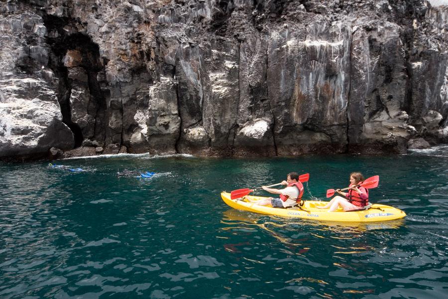 enjoying sea kayaking