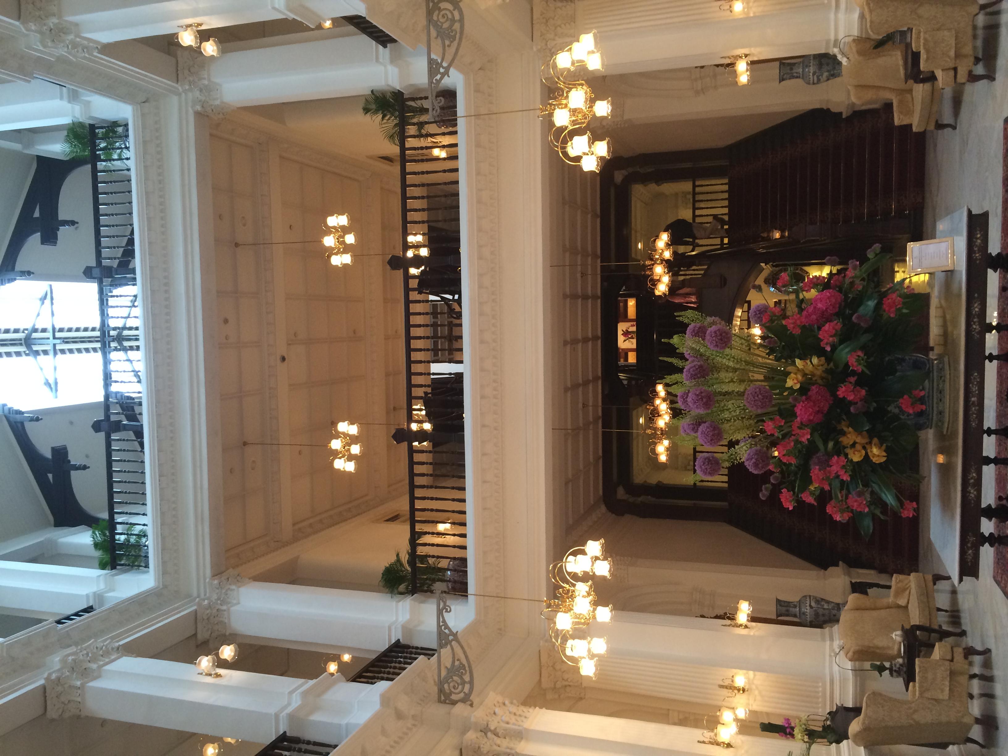 Lobby of Raffles Hotel