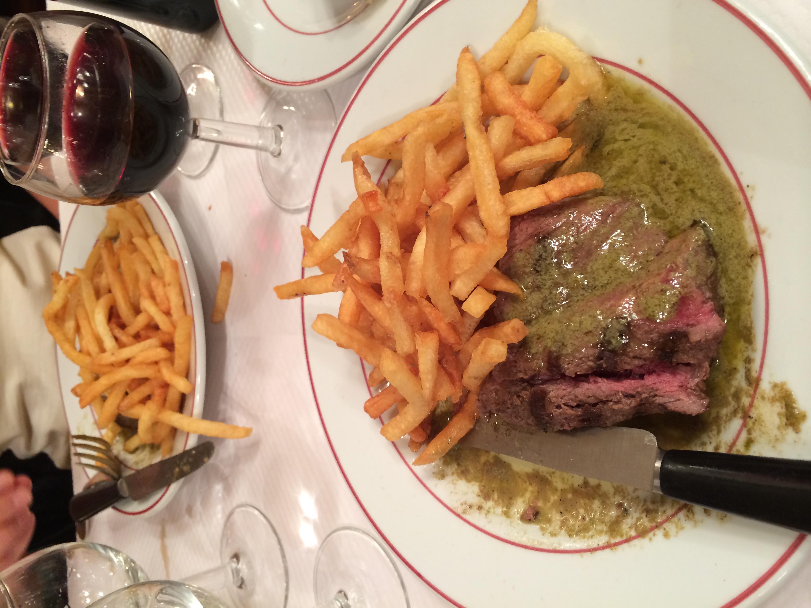 Steak frites round 2!
