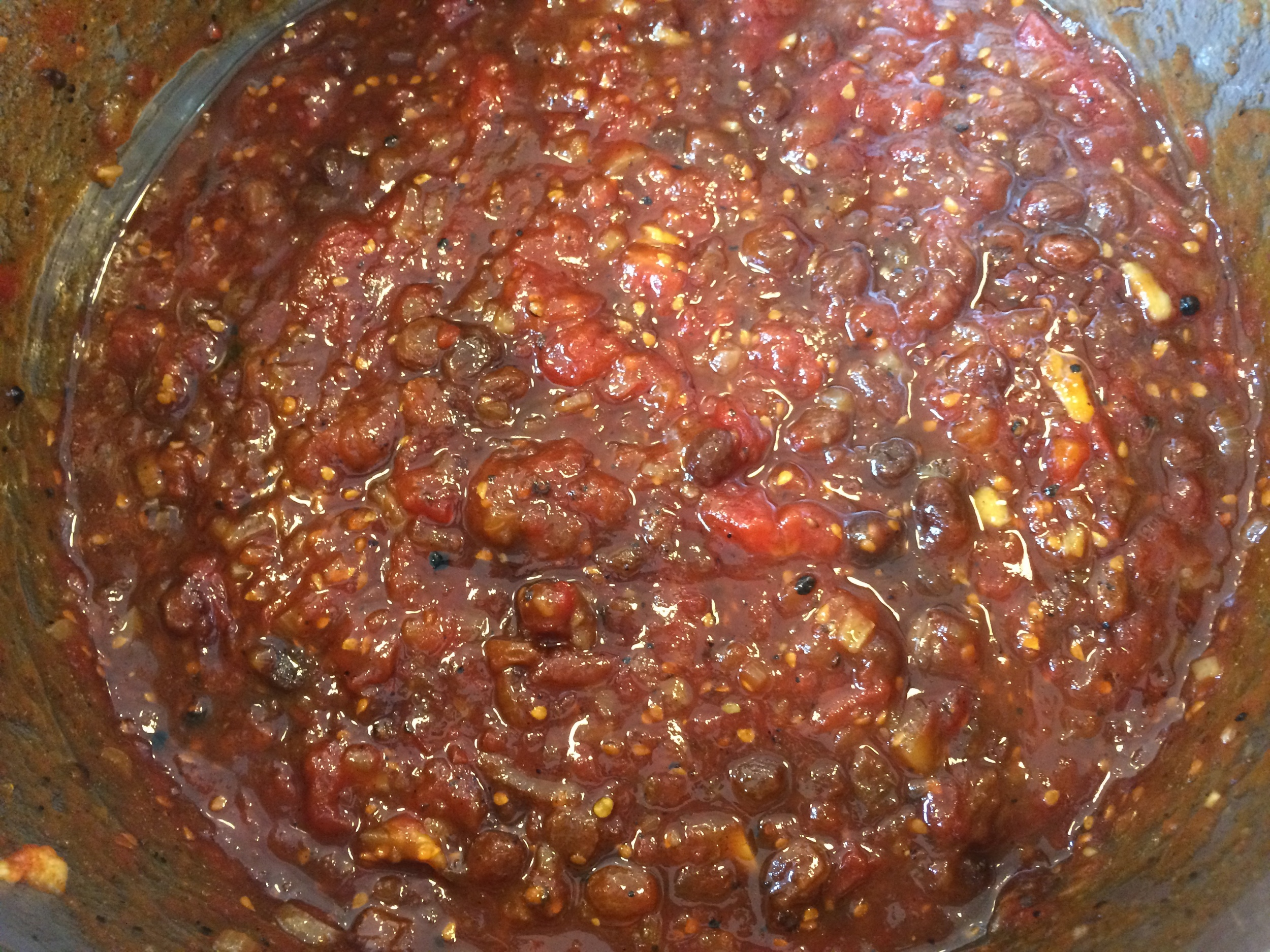 Chutney reduced and ready to jar!