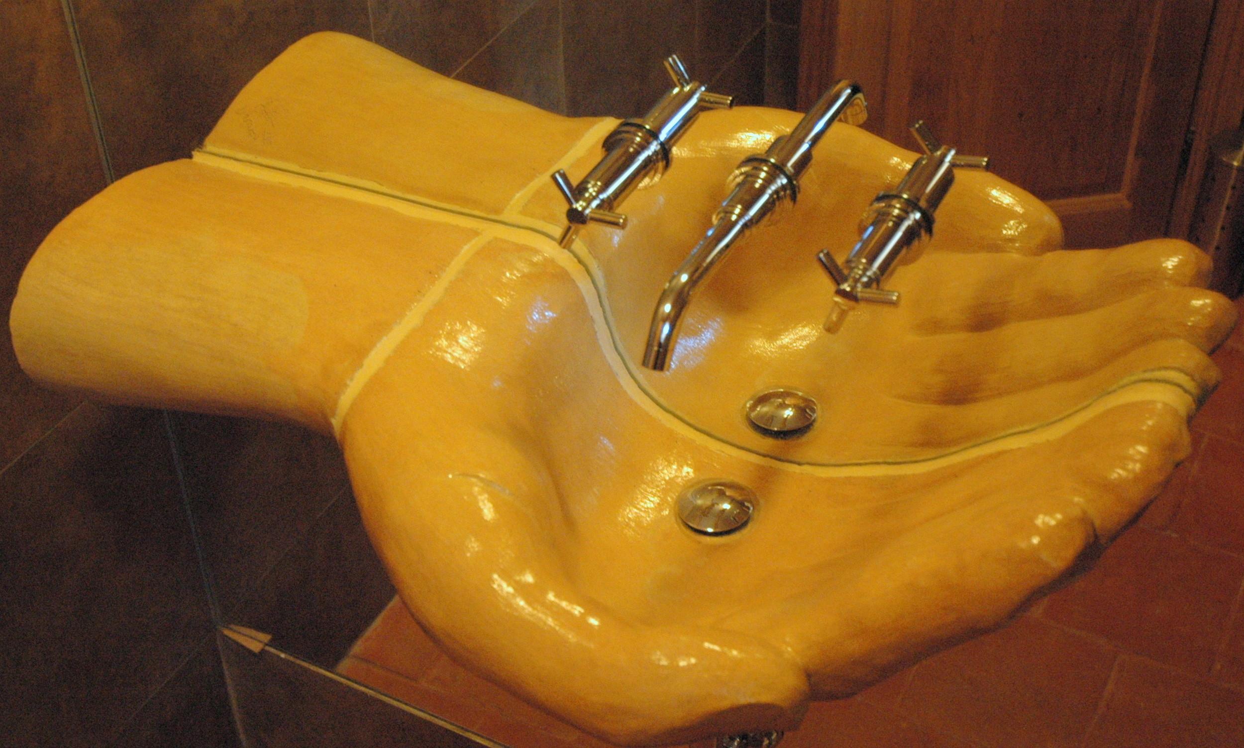 Sculptural hand basins