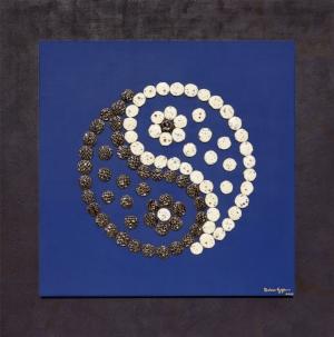Yin Yang (2017) Size including frame: 80 x 80 cm P.O.A.