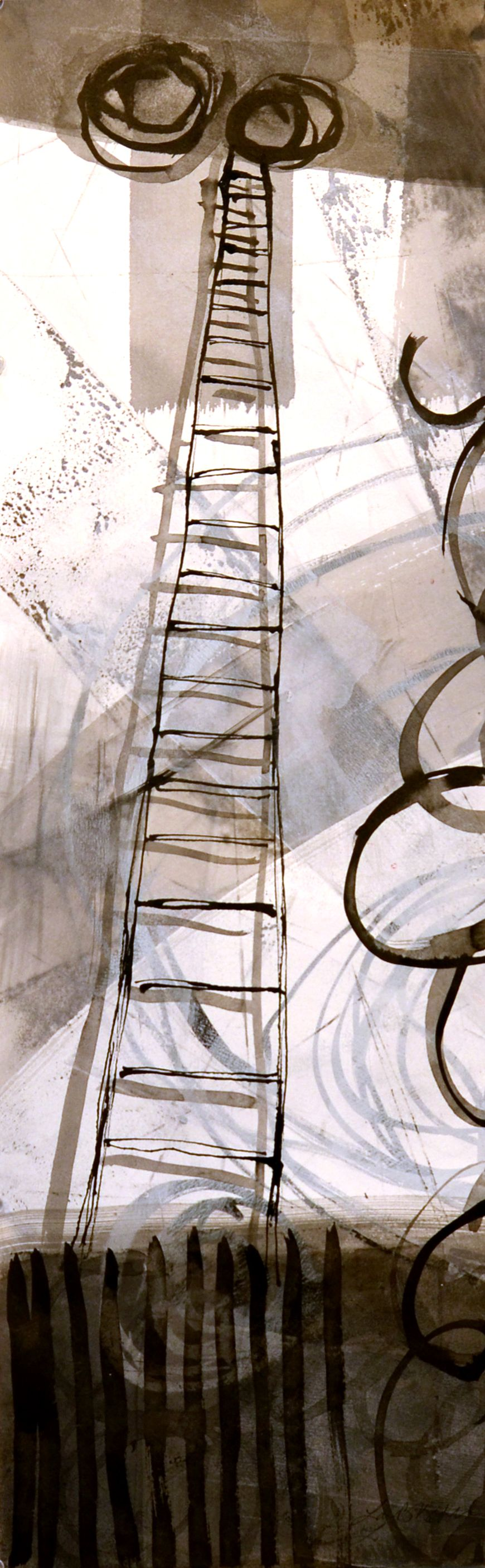 Ladder Page •    mixed media on paper    •    10 x 30