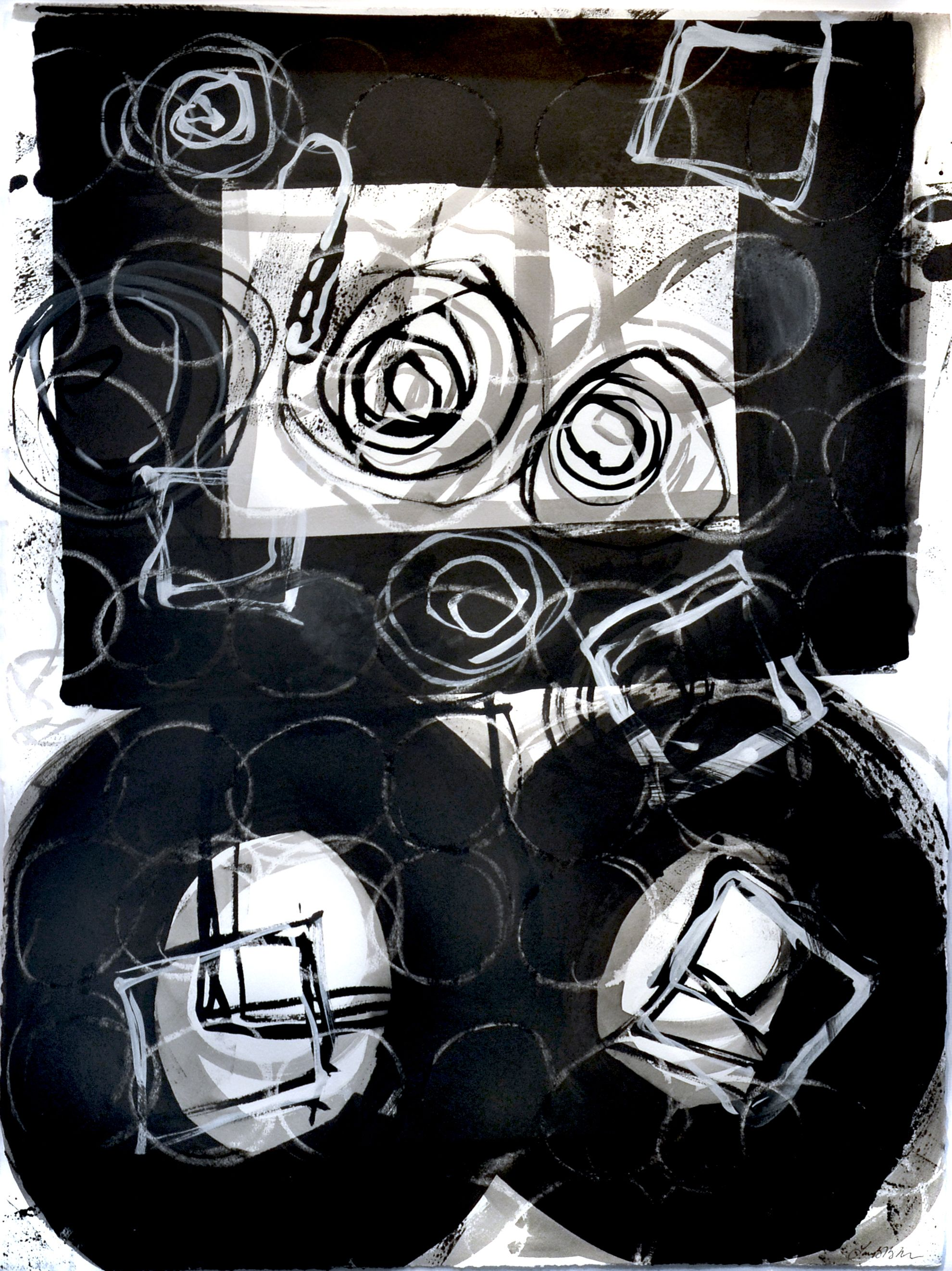 Page in Black and White 2     •   mixed media on paper   •    23 x 30