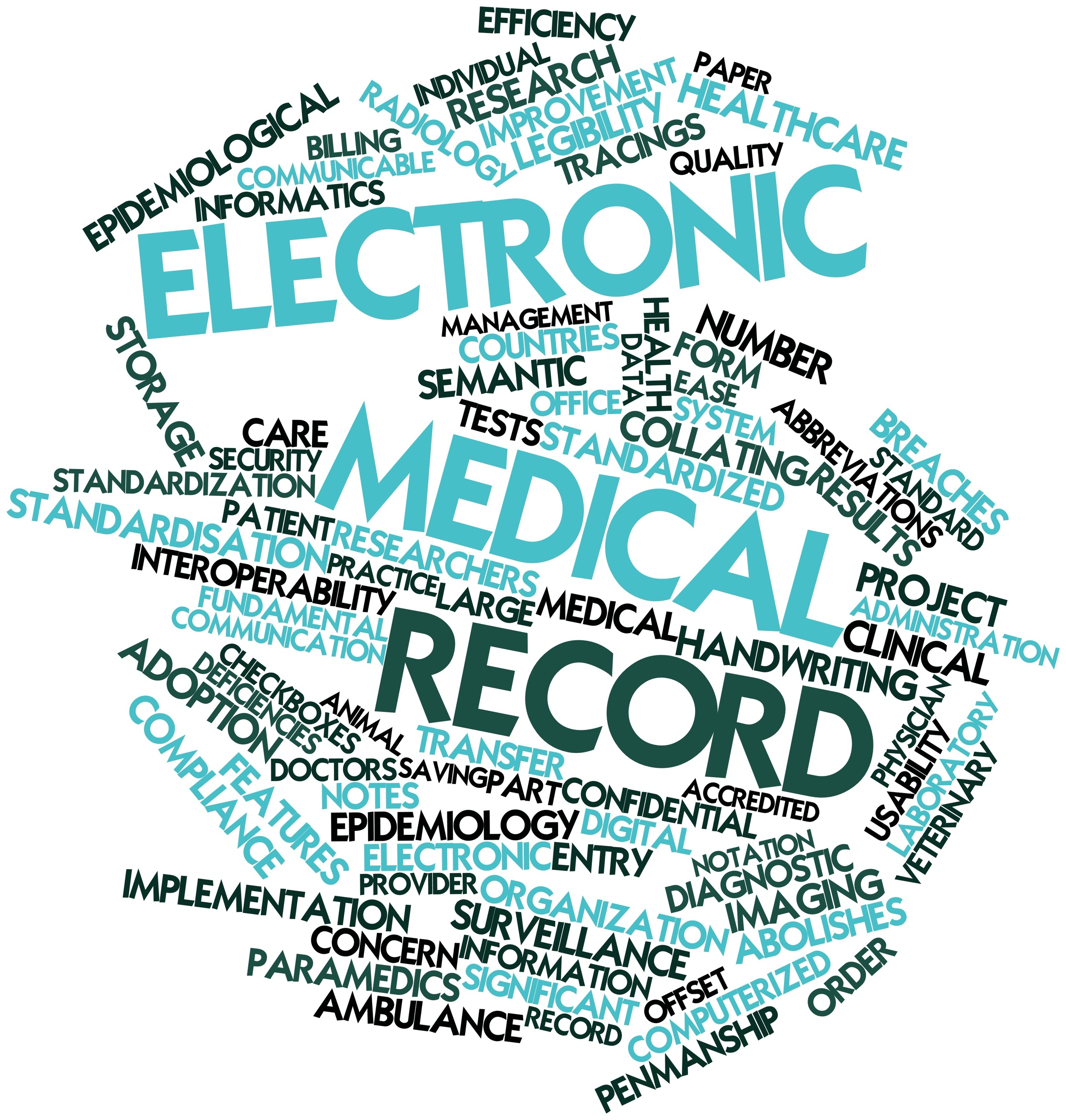 Word cloud for Electronic medical record