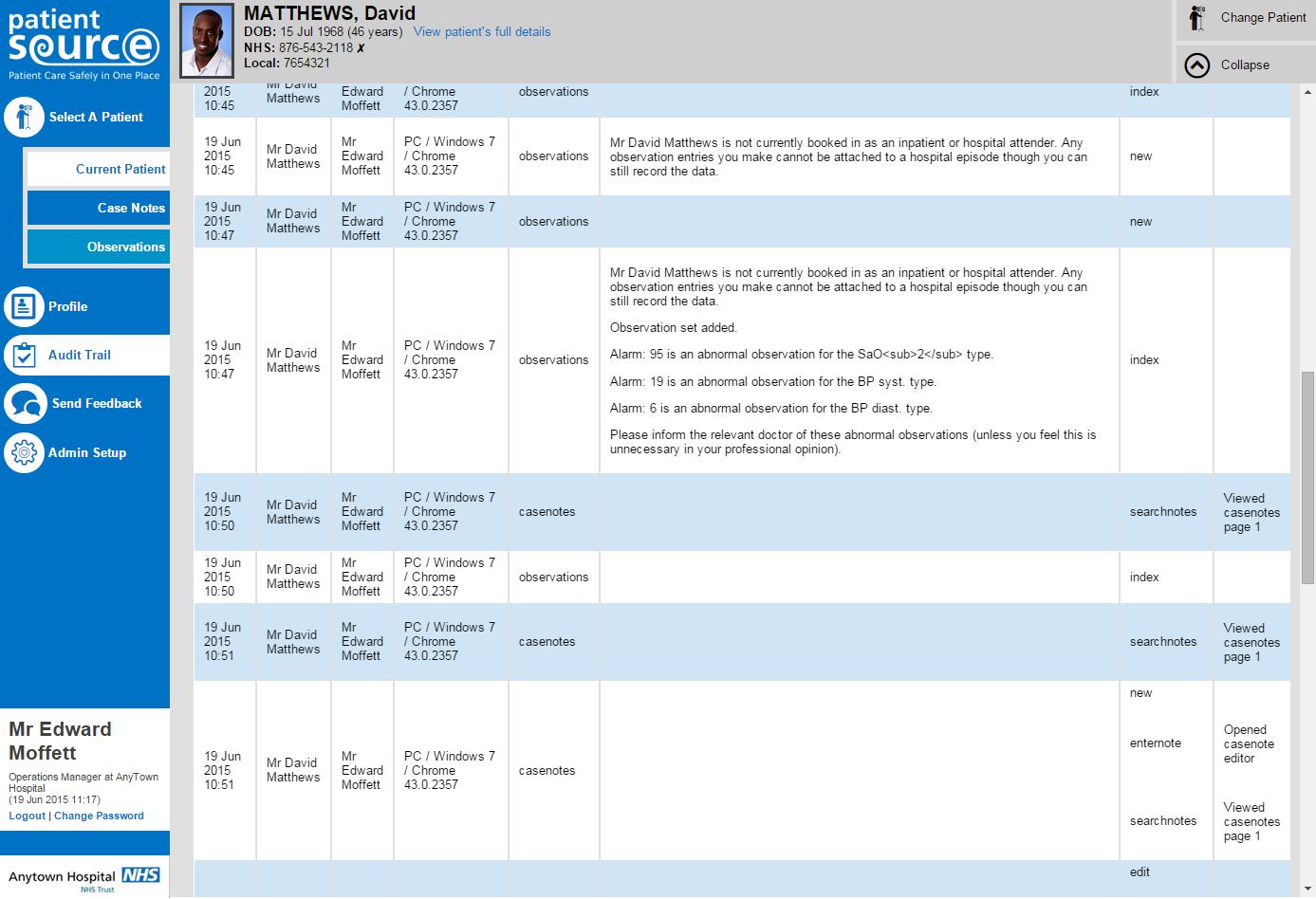 Audit Module Screenshot
