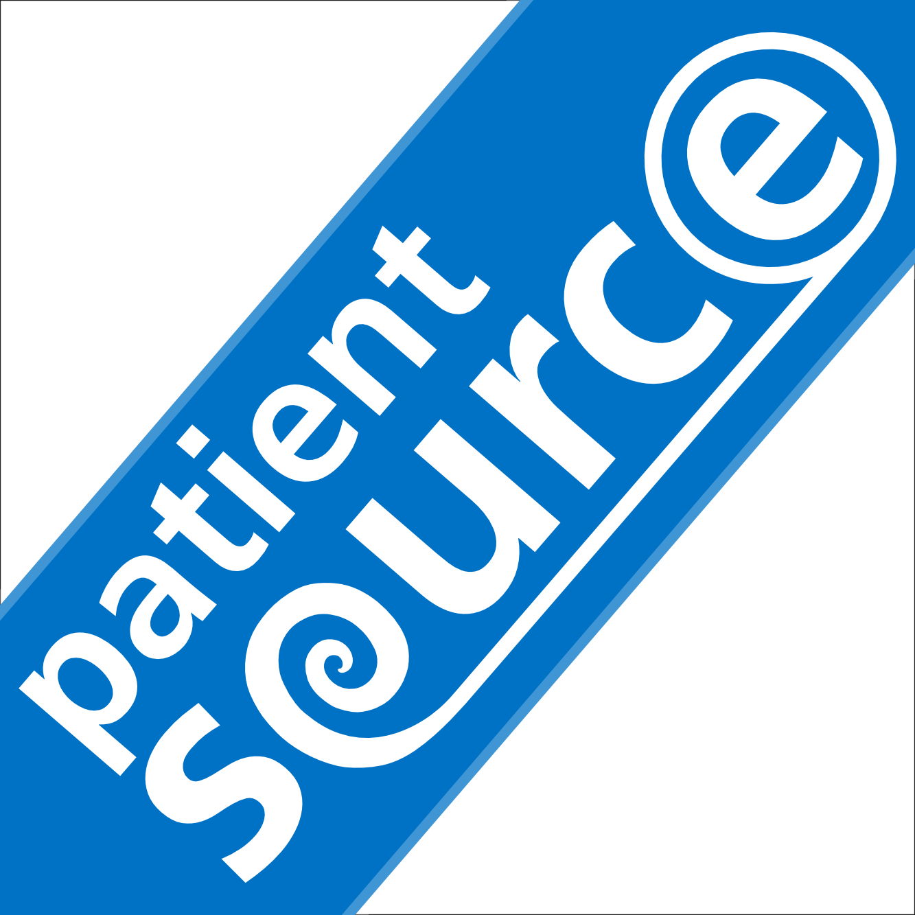 PatientSource - Square diagonal logo inverted
