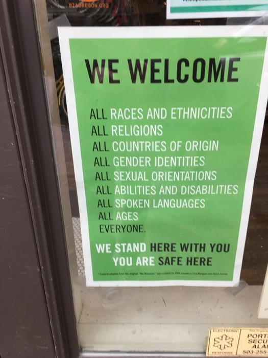 We welcome all gender identities.