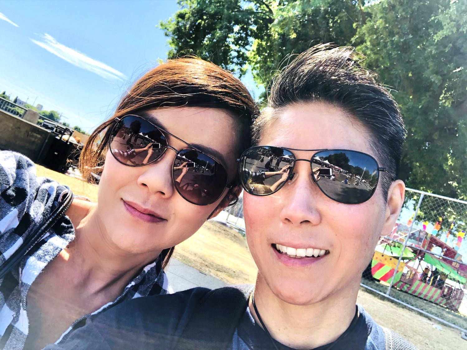 Selfie on our day at Portland Rose City Festival