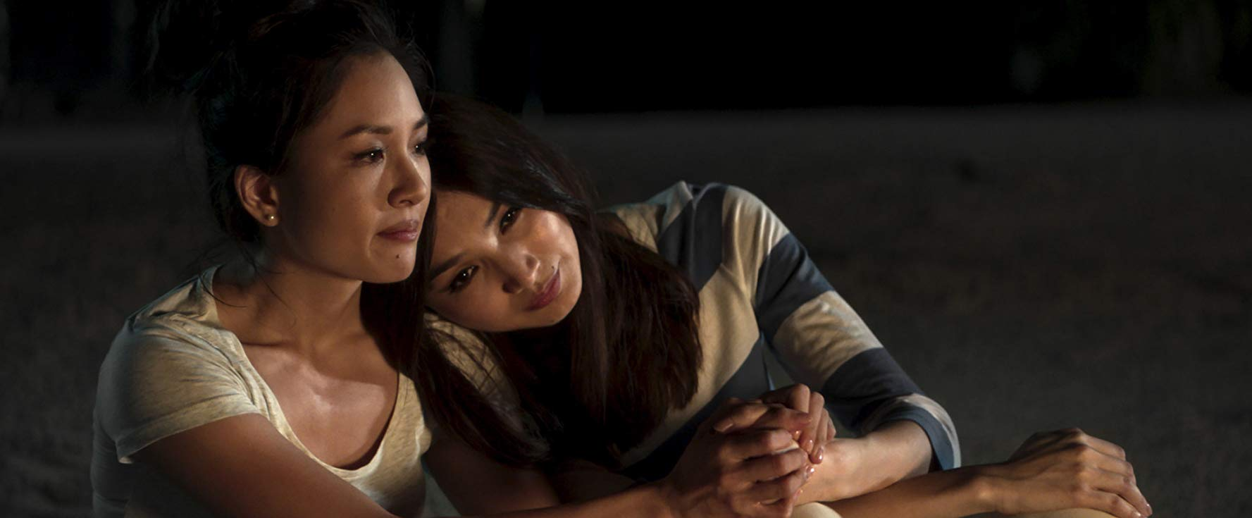 Constance Wu as Rachel and Gemma Chan as Astrid, in  Crazy Rich Asians
