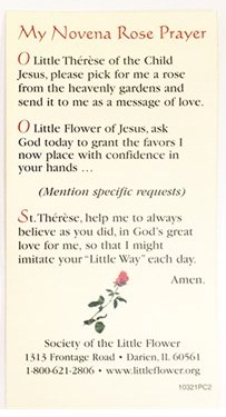 The prayer that Siena read and prayed, which we found online  here .