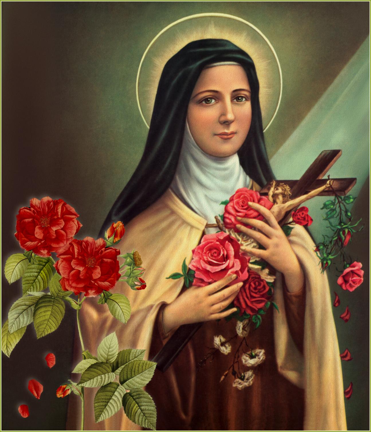 "Saint Thérèse of Lisieux, nicknamed ""Little Flower"""