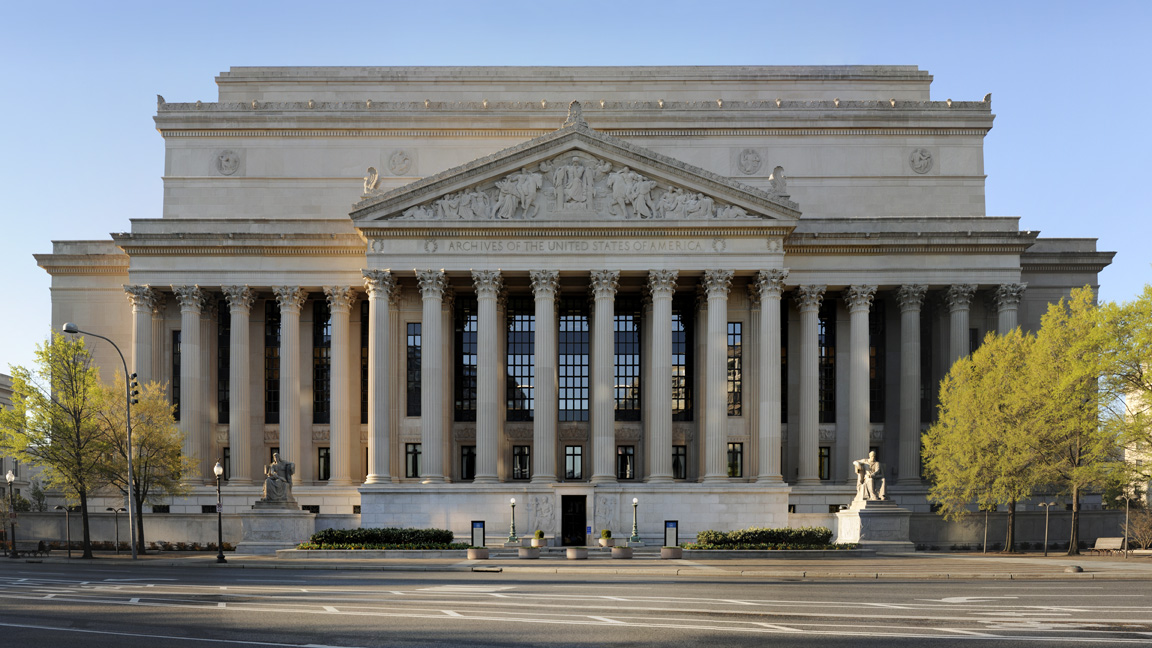 The U.S. National Archives Building, which houses the original Declaration of Independence. Photo by  U.S. National Archives