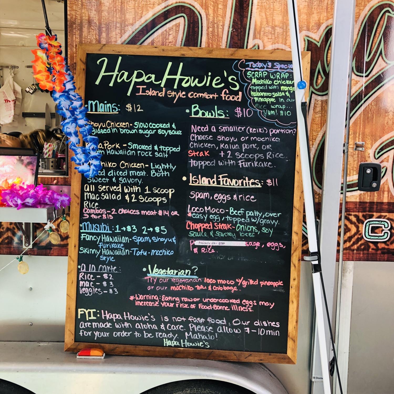 The Hapa Howie's Menu