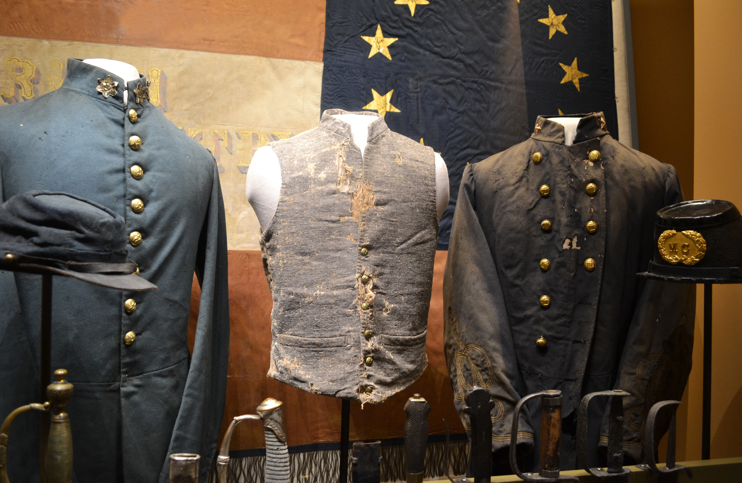 Courtesy of the Alabama Department of Archives & History  Civil War frock coats, Alabama Voices exhibition, Alabama Department of Archives & History