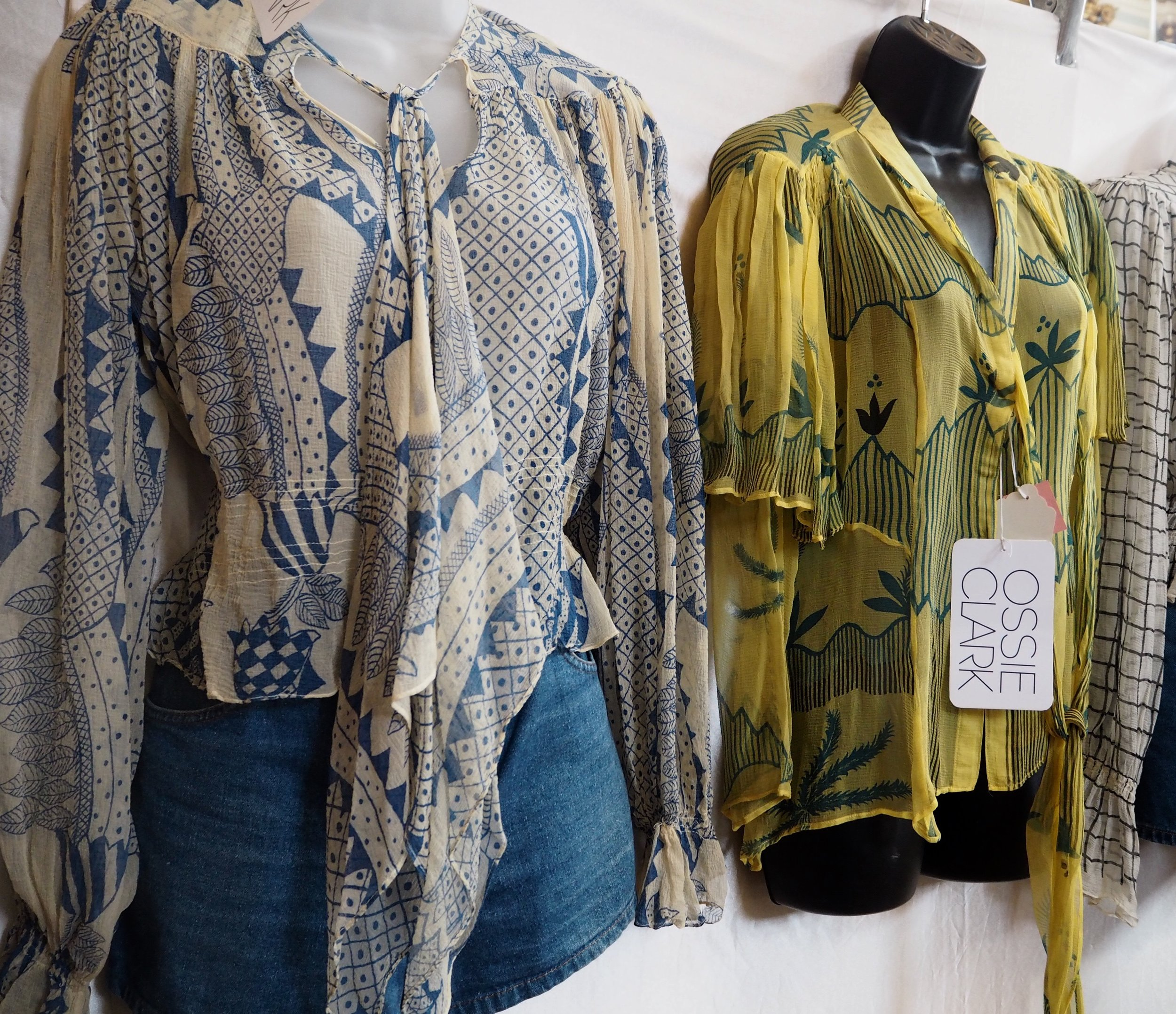 Vintage Ossie Clark blouses with Celia Birtwell prints from  @shlittlesistervintage