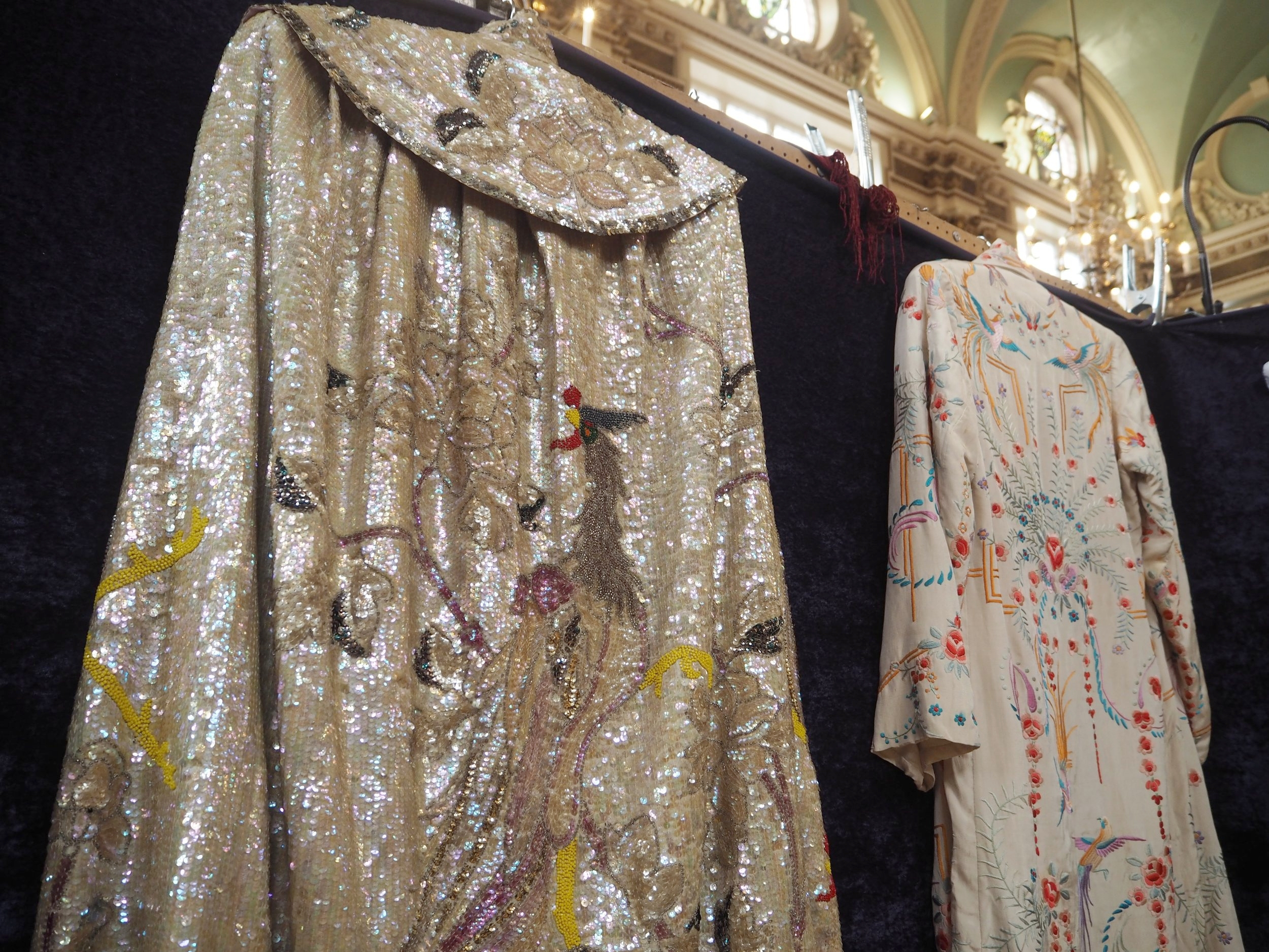 1920's sequin cape and embroidered jacket from Oliver Vintage