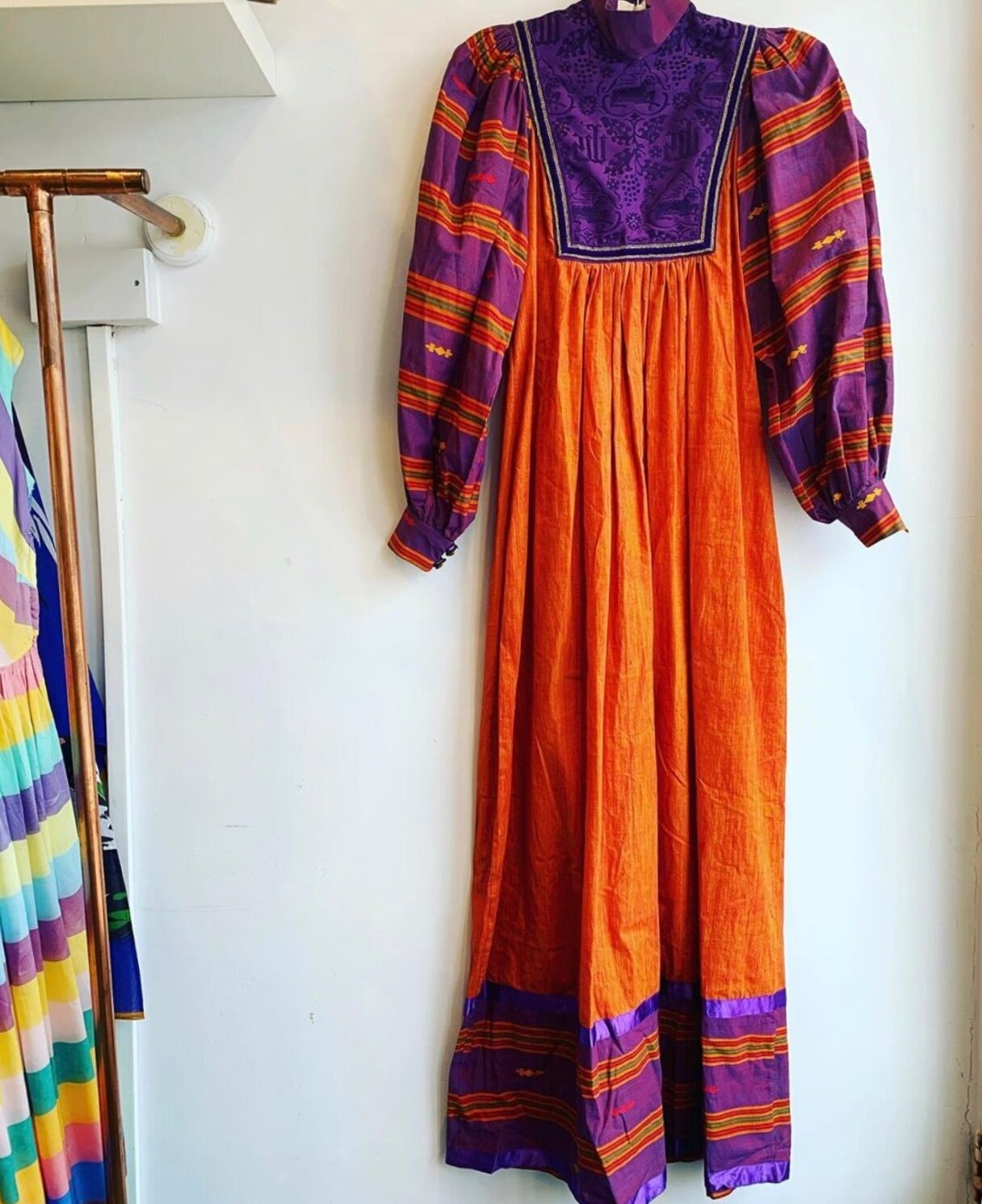 1970s dress from Brighton based  Hope & Harlequin