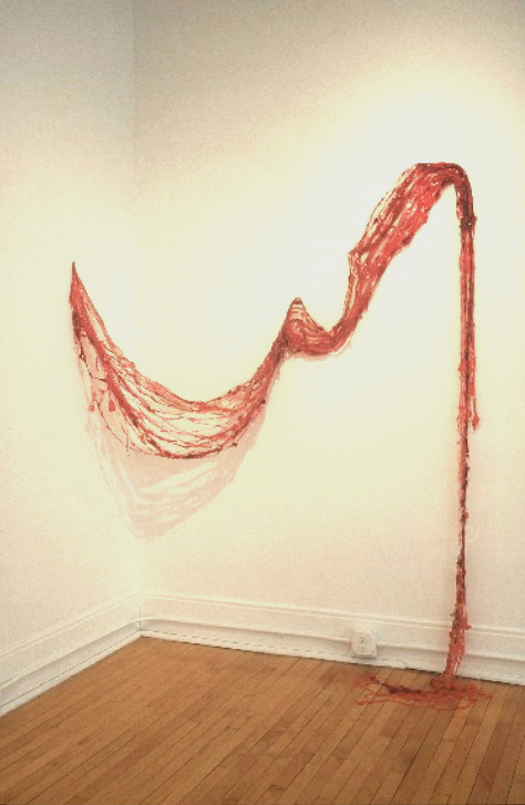 Damage Control  2002 acrylic on wall dimensions variable (approximately 80 by 70 by 20 inches)