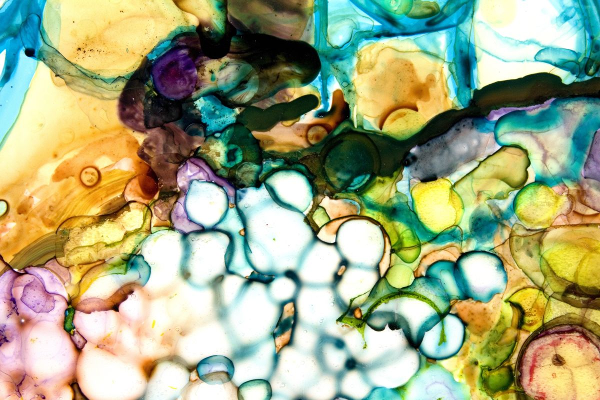 Flotsam, detail 2009 ink and acrylic on mylar 51 by 67 inches