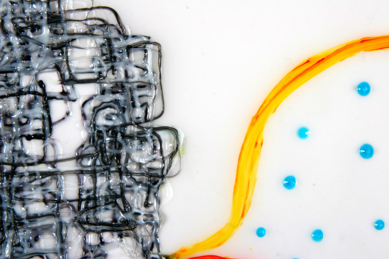 Untitled 13, detail 2004 ink and acrylic on denril vellum 17 by 14 inches