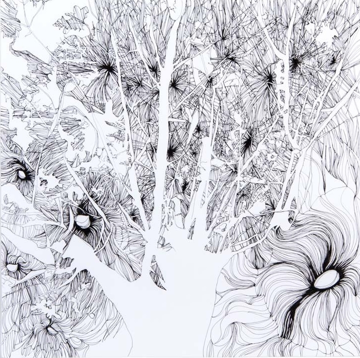 Betwixt & Between 4 2012 ink on paper 13 by 13 inches