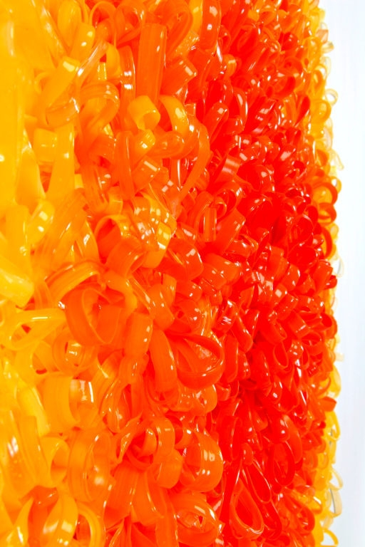Radiant Release, detail 2005 acrylic on plexiglas 27 by 27 inches