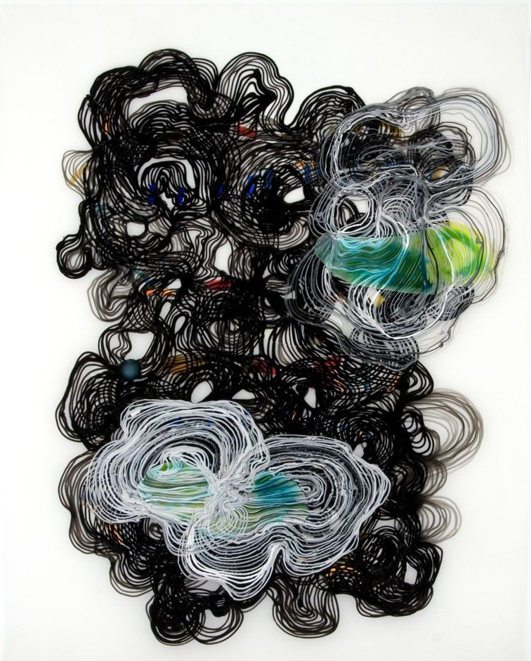 Morass 2009 ink and acrylic on mylar 25 by 31 inches