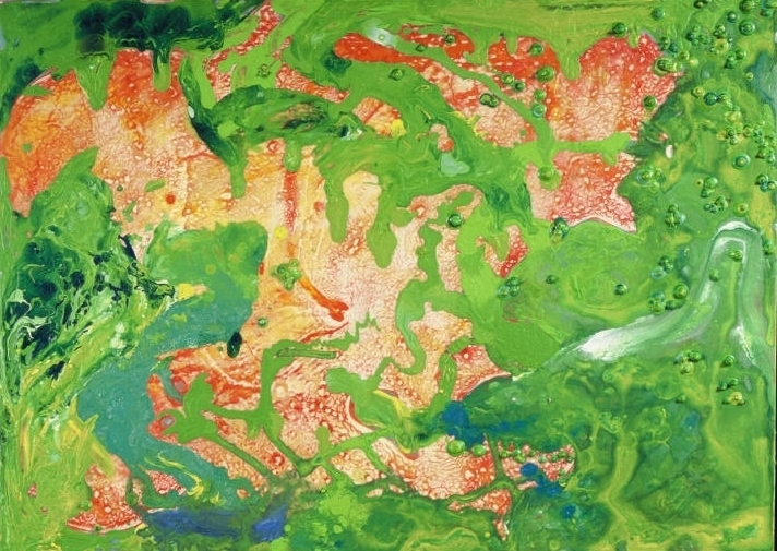 Extracurricular 2000 acrylic on mdf 18 by 24 inches