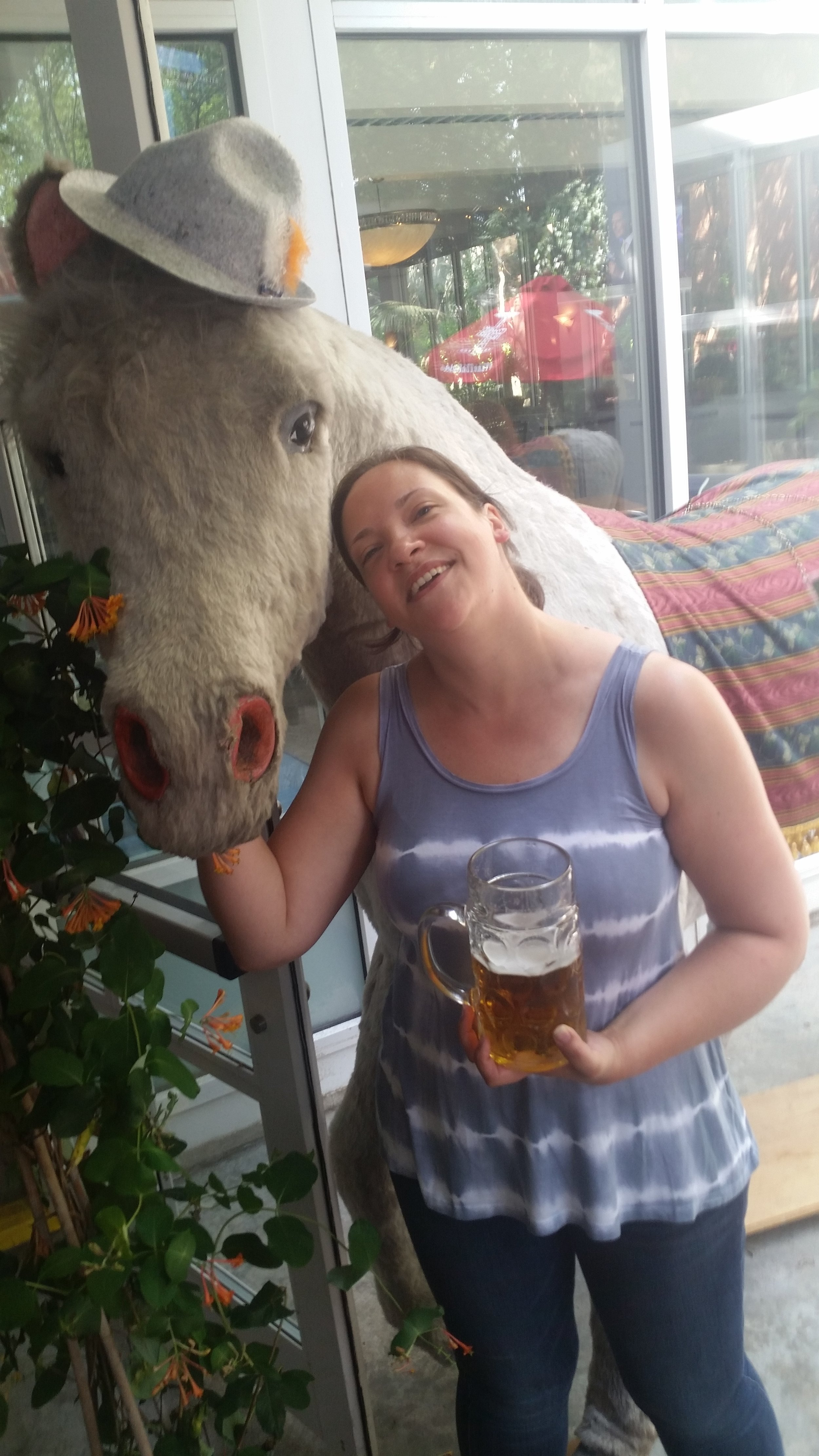 I'd like to thank my best friend, the horse from the Grand Prospect Hall Beer Garden