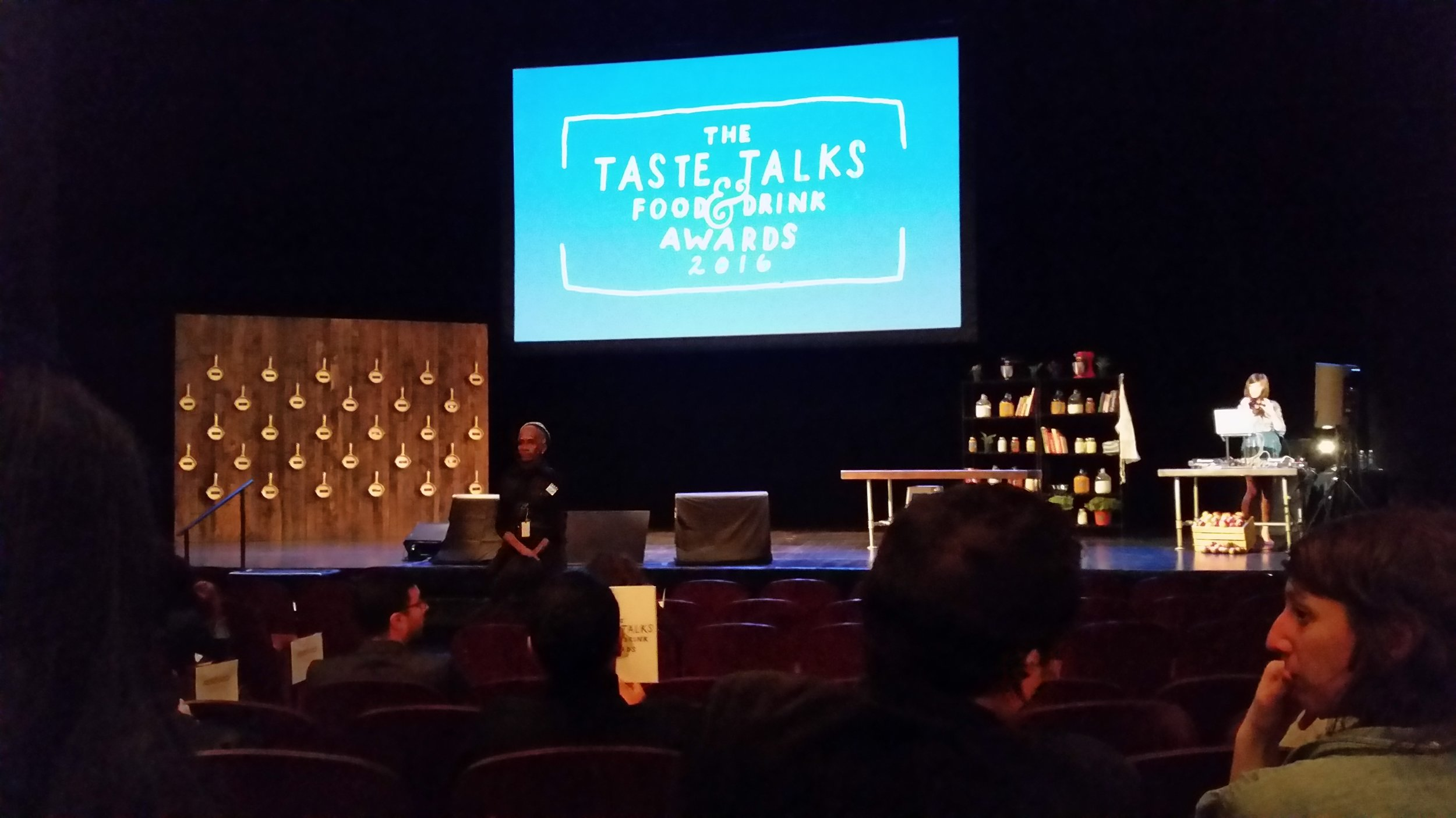View from my seat of the first ever Taste Talks Awards!