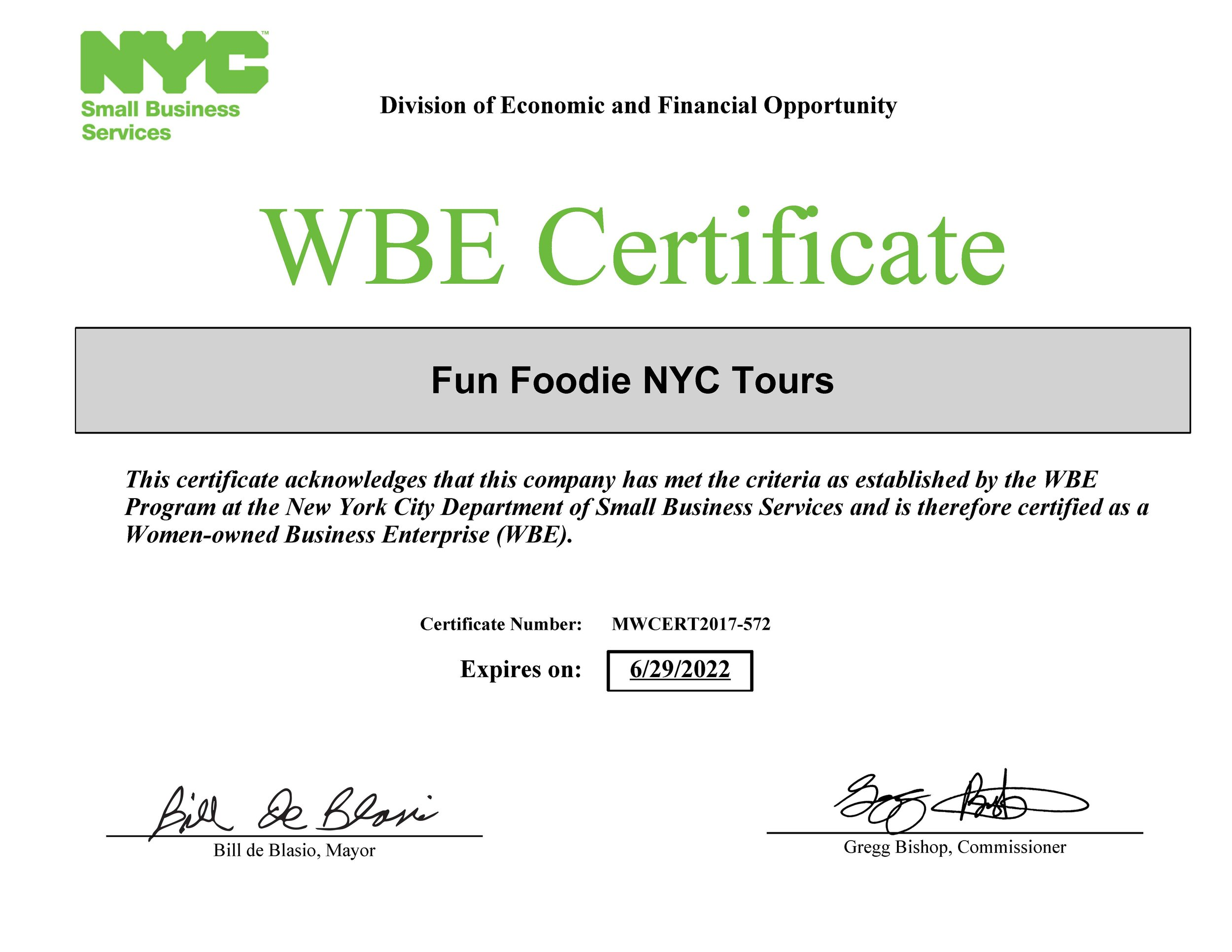 PS--this thing happened this summer! Finally officially recognized as a Woman-Owned Business! I am woman! Hear me scarf down all of the food!
